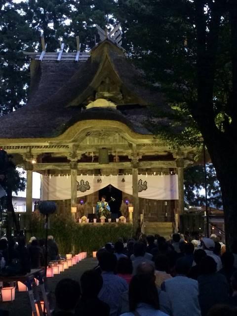 羽黒神社のライトアップコンサート