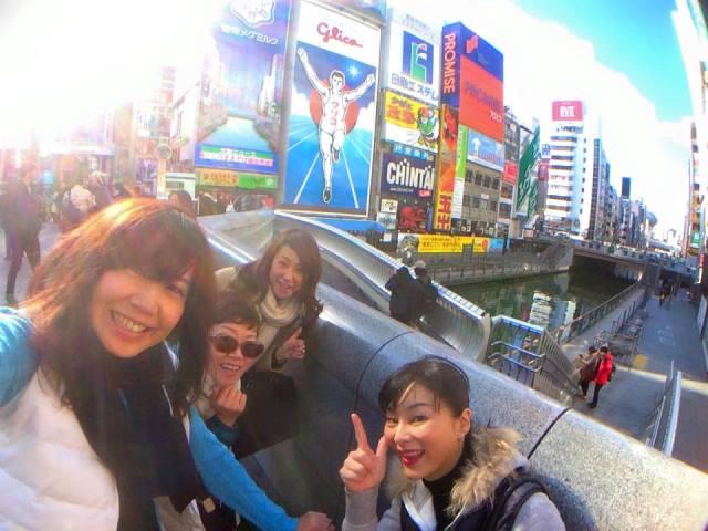 テレビで良く見ていた戎橋でグリコと共に。お友達と大阪観光もしました♪