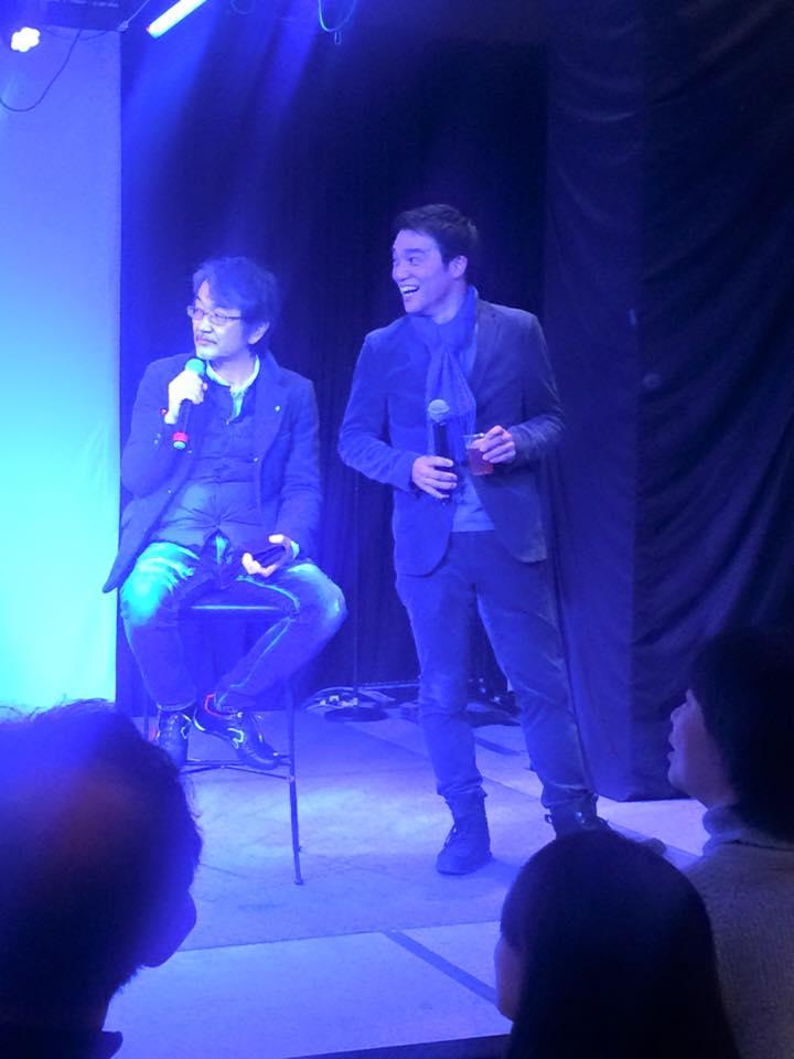 左が藤村先生、右が日本で唯一の大河ドラマや歴史でビジネスを語り、企業にアドバイスしている税理士の山本やすぞうさん
