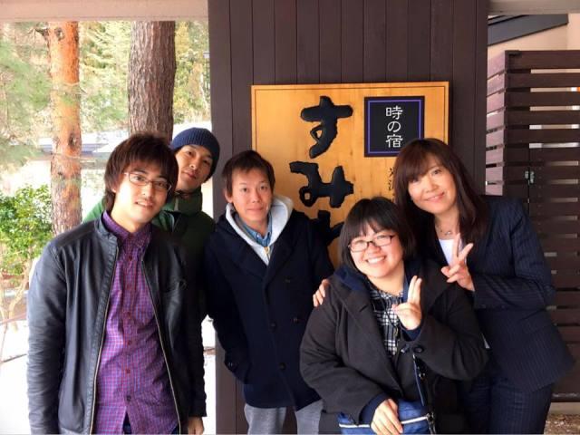 終了後 番組スタッフさん達との記念撮影~!紅一点白川さんかわいいーーー(#^.^#)