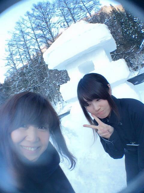 明日雪灯篭にろうそく灯しますよーーーーーー!ー米沢すみれの雪灯篭まつりー