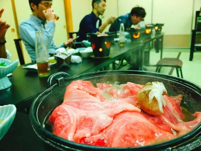 米沢牛のすき焼美味しかったなー