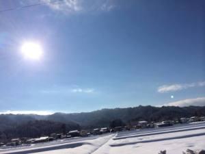 米沢12月の寒波とピカピカ銀世界とすみれの冬メニュー