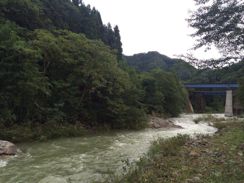 11日今朝の赤石川