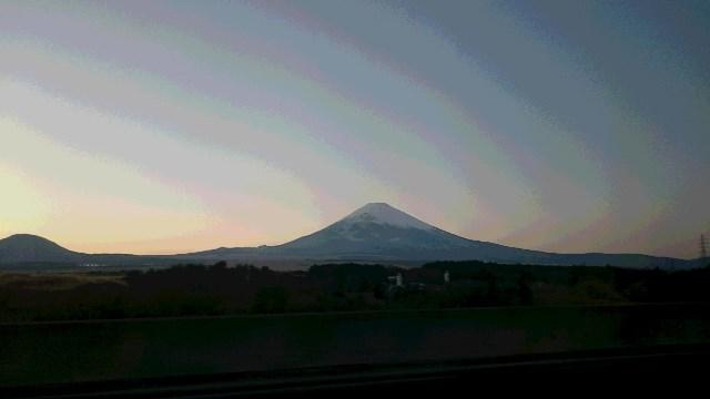 すみこさんが車中から撮影した富士山の写真