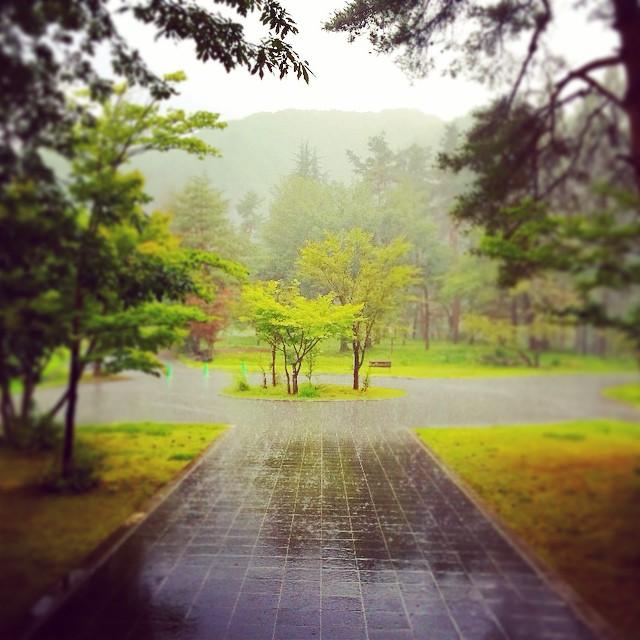 西吾妻山にいるSNSのお友達が 天気予報士で助かります!