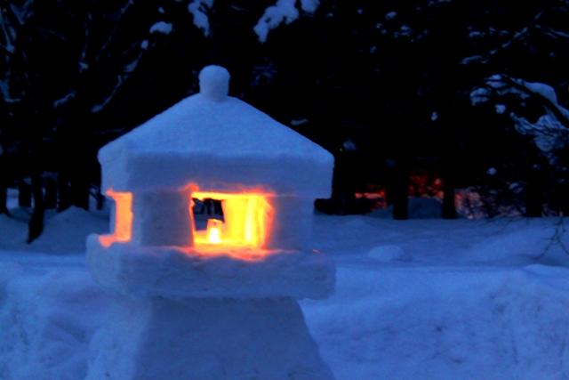 米沢の冬ならではの遊びpart2『上杉雪灯篭まつり』☆
