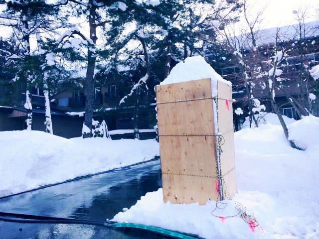 2月4日に「トーフ」と言われる雪灯篭の型を作ったよ!