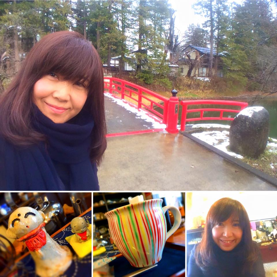 帰りに寄った カフェ蓮櫻さんでも Keisukeマフラーを外さず ご機嫌なあやこさま。(笑)