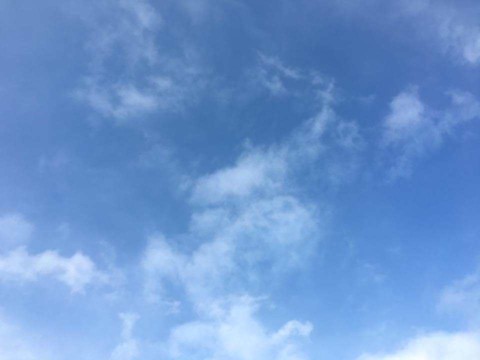 ホワイトアウトする位の雪が止んで 青空が。ほっとするよね~