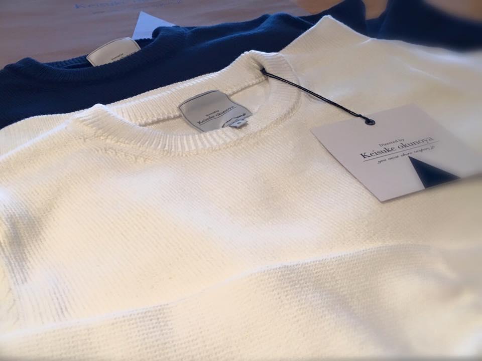 keisukeokunoyaの綿セーター