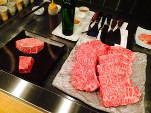 ちなみに今夜は全てステーキ
