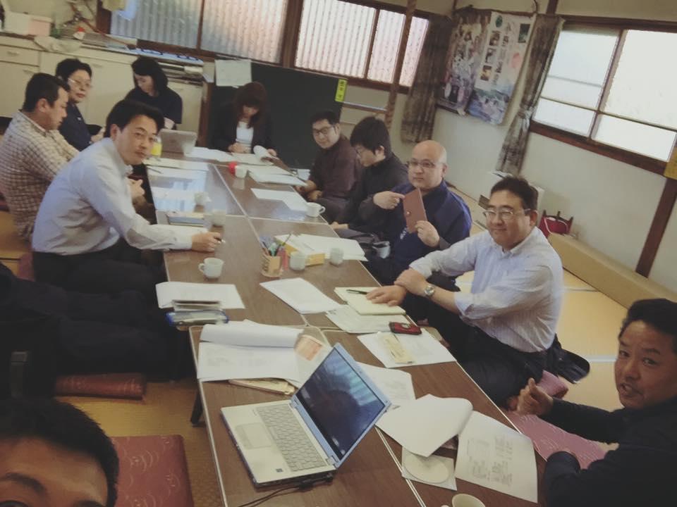 温泉米沢八湯会の例会で 登府屋旅館 遠藤直人氏のお写真ね