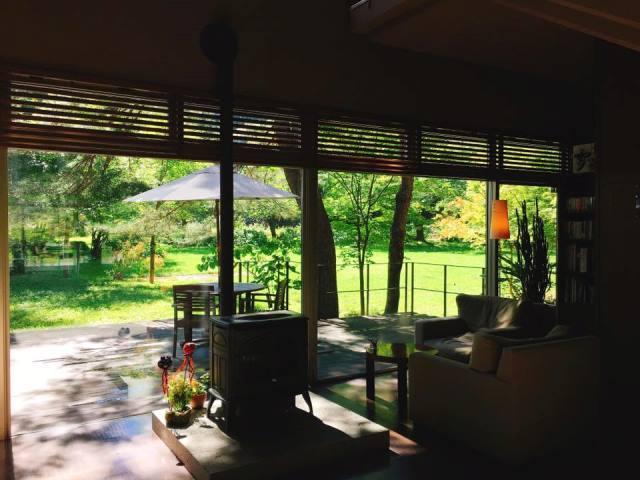 ラウンジからの眺めも キラキラでとってもきれいな一日に