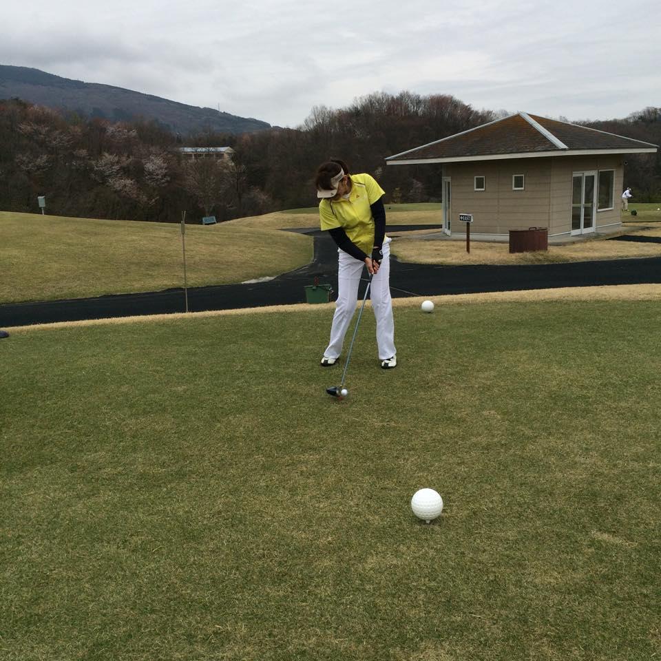 へたっぴで 恥ずかしいー(>_<) でも楽しかったゴルフ