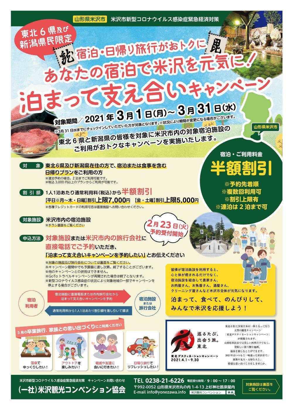 宿泊 山形 キャンペーン 県