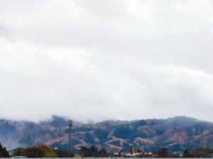 頂上付近は真っ白い雲で見えなかったけど 少しだけ積雪の天元台