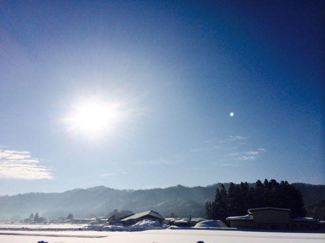 米沢の冬のいろんな表情が好きです♪