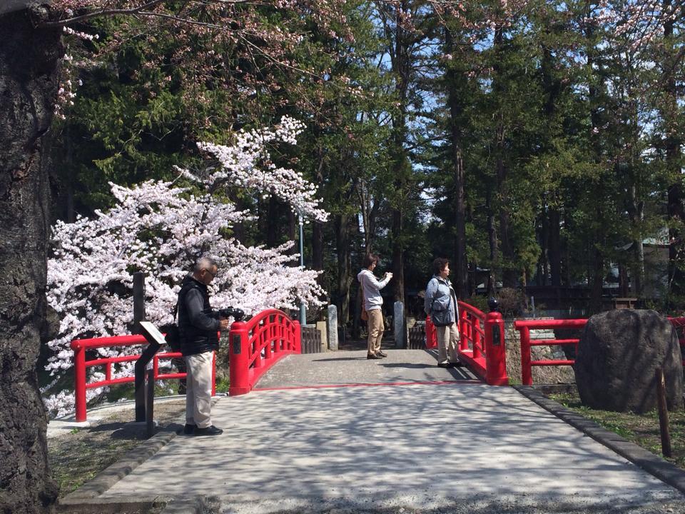 昨年の4月23日上杉神社の菱門より