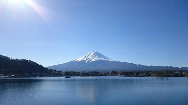 河口湖から望む富士山