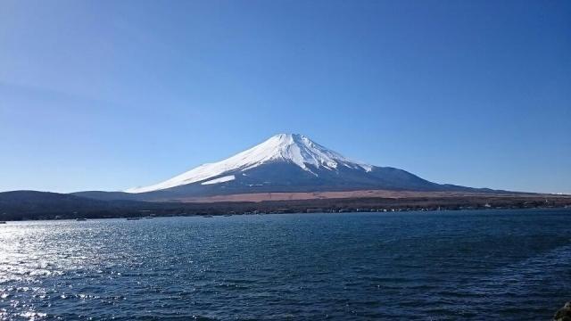 同じ富士山でも周りの景色が変わると印象もかわるのね。山中湖より